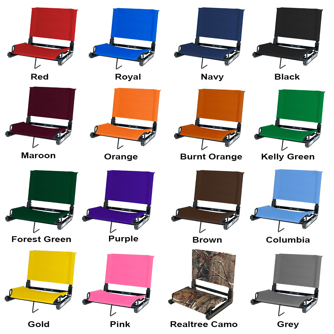 ... Stadium Chair Bleacher Seat - Blank ...  sc 1 st  Longstreth : stadium chair bleacher seat - Cheerinfomania.Com