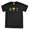 Peace Love Play Field Hockey Tee