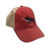 Field Hockey Dog Trucker Hat