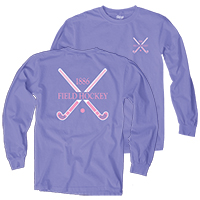Field Hockey Long Sleeve Crossed Sticks Tee Shirt