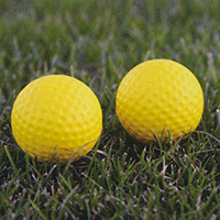 Crusher Mini-Lite Pitching Machine Balls  (GOLF BALL SIZE - 2 Dozen)